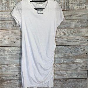 Wasabi & Mint Ruched T Shirt Dress